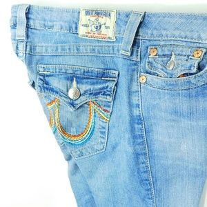 TRUE RELIGION Knee Length Short Rainbow Bermuda 29